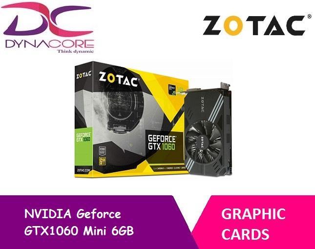 [ZOTAC] NVIDIA Geforce GTX1060 Mini 6GB Graphics Card