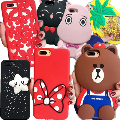 3D Slicone case Rose casing for OPPO R11 R11 Plus OPPO R9S R9S Plus A59 A57 iPhone 7 6 S8