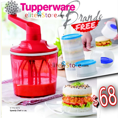 TUPPERWARE Speedy Chef 1.35Lwith box [FREE Magic Tower] NASI LEMAK BURGER Whisk Mixer No electricity