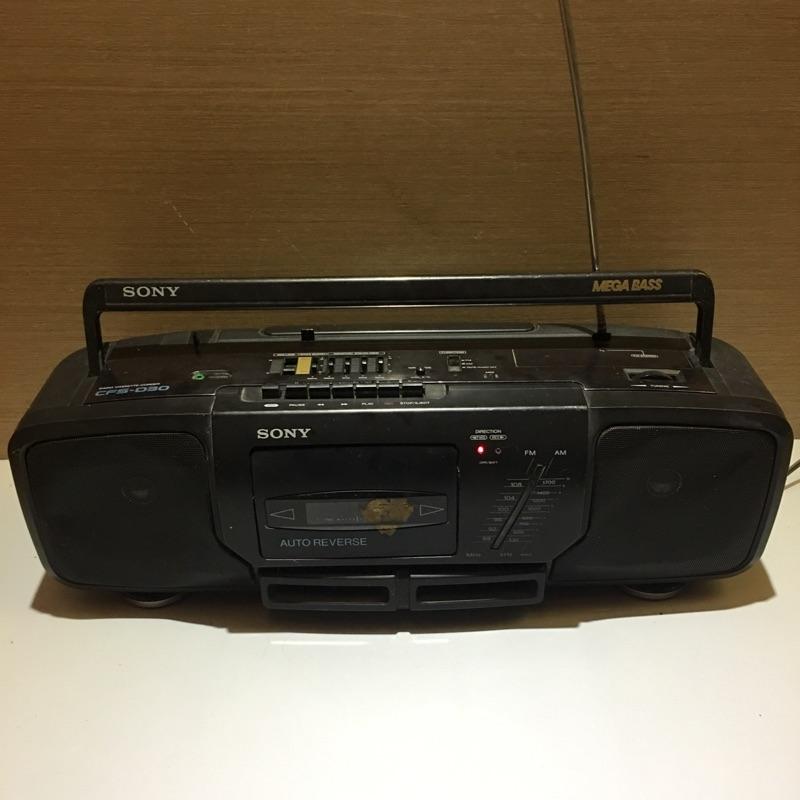 SONY卡式收錄放音機 SONY早期收音機 SONY收音機 手提式錄音帶收音機 手提收音機  收音機 錄音帶機