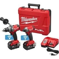 特價全新Milwaukee 米沃奇18v無刷衝擊起子電鑽進階版藍芽可微調雙機