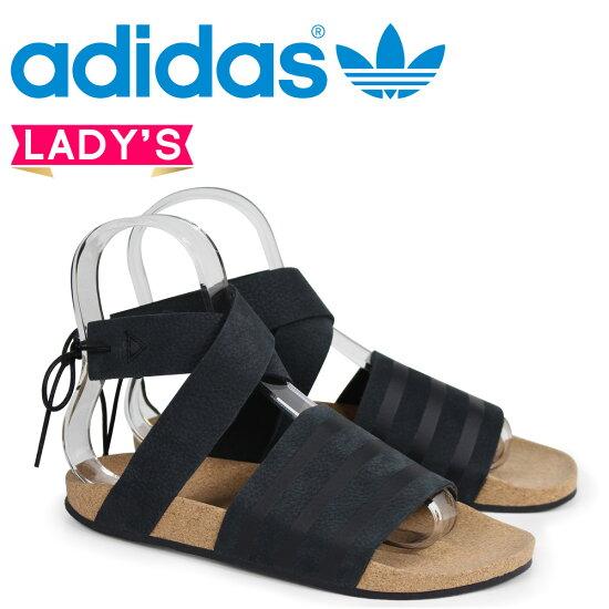 愛迪達原始物阿迪萊塔adidas Originals女士涼鞋ADILETTE ANKLE WRAP W CM8167黑色 SneaK Online Shop