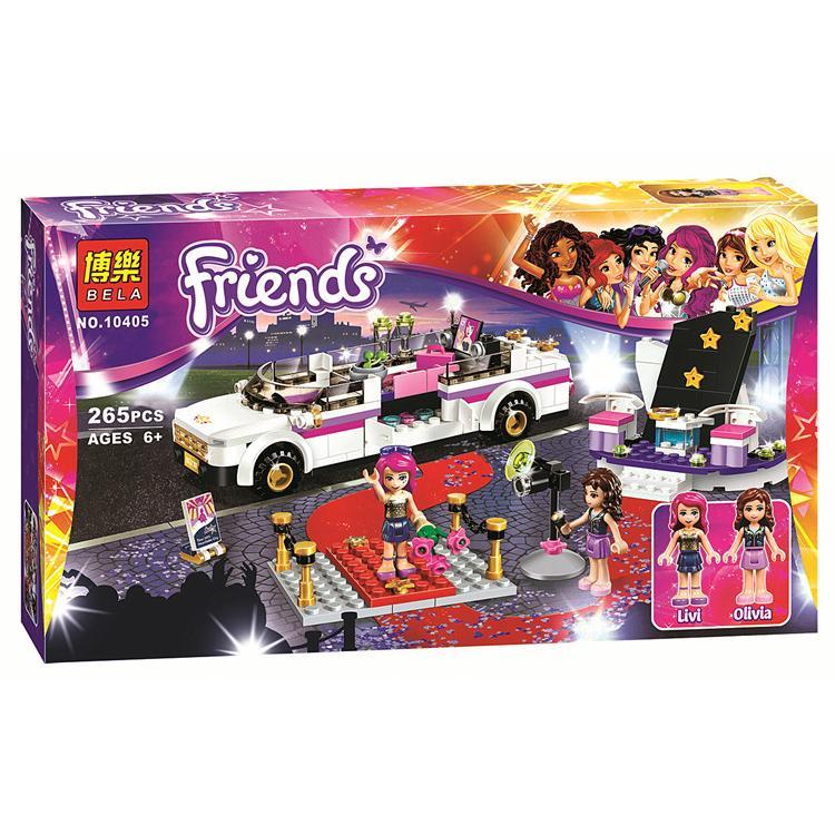 【積木反斗城】博樂 女孩Friends 系列: 10405 大歌星的豪華轎車 / 相容 樂高 LEGO積木