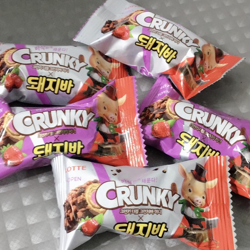 韓國LOTTE樂天Crunky mini版 巧克力棒、草莓🍓巧克力棒