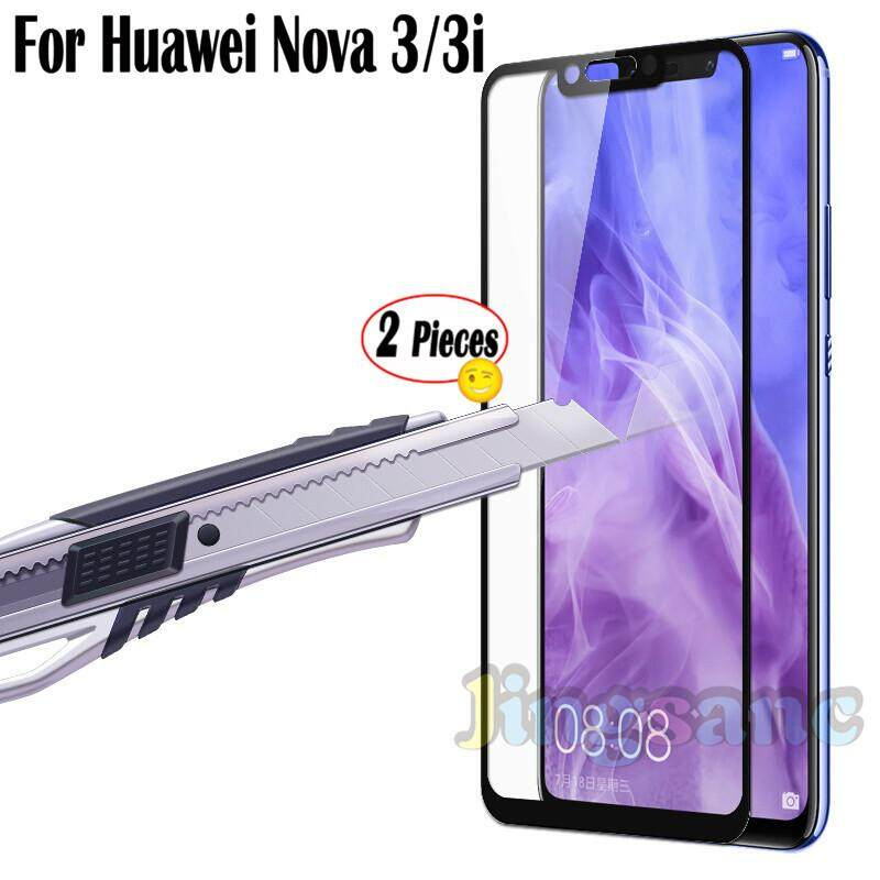Jingsanc 2 Pieces For Huawei Nova 3i/Huawei Nova 3 Full Cover Clear Protect Tempered Glass Screen Protector Film for huaweinova3i/nova3