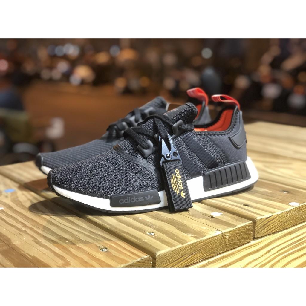 SHOEBOX Adidas NMD R1 黑白 紅尾 吊飾 網布 男鞋 女鞋 B37621