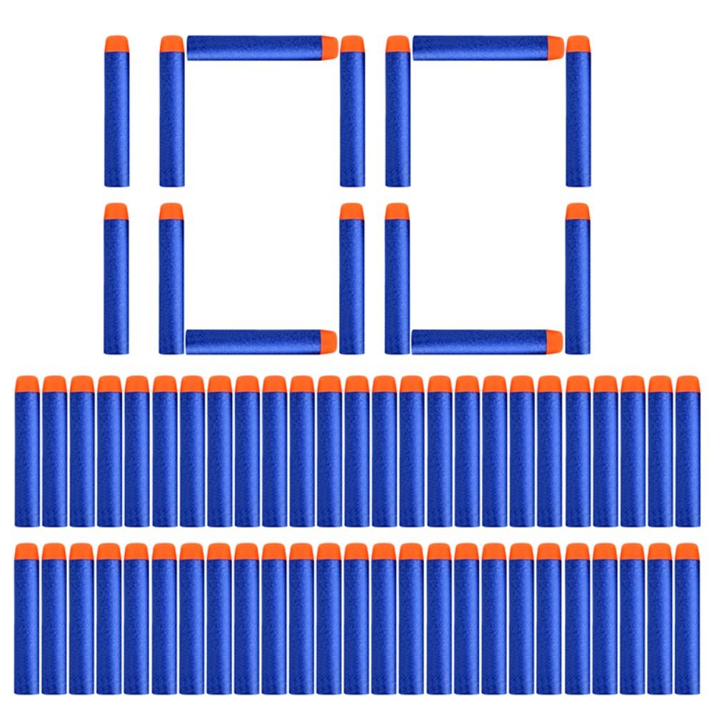 100pcs Refill Darts Bullets For Nerf N-strike Elite Series Blasters Children Toy Gun Blue Soft Bullet Foam Guns Accessories !
