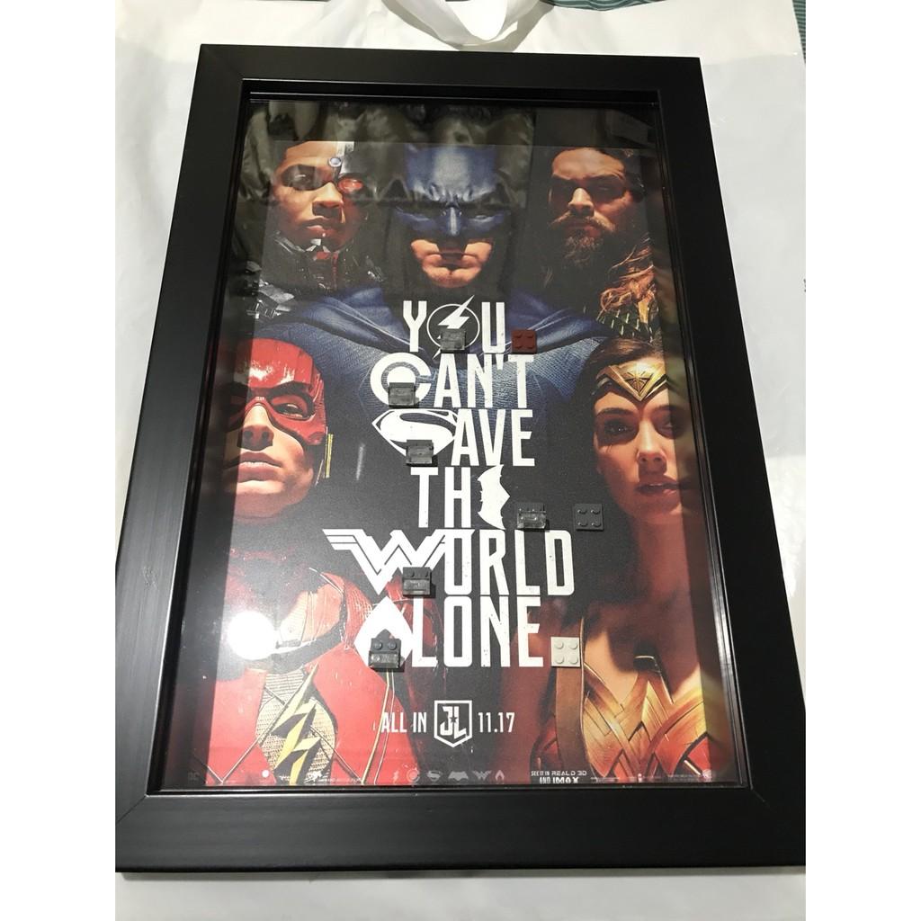 <樂高蝙蝠俠>正義聯盟相框(背景圖案可指定訂做)76085,76086,76087