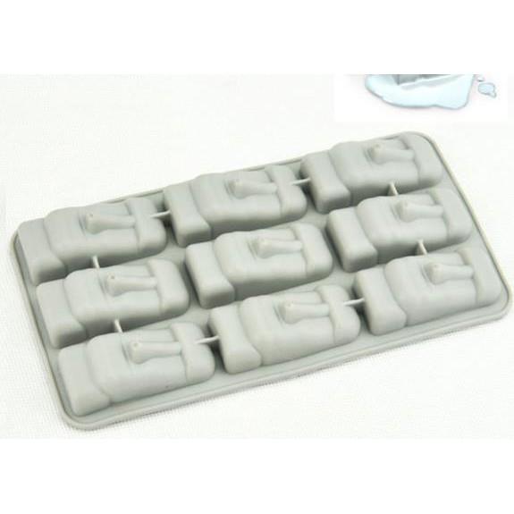 [預購] 6連孔 復活島石像 摩艾石像 香磚模 石膏模 矽膠皂模 冰塊模