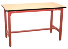 M10 STEEL WORK BENCH WITH WOODEN TABLE TOP WB01