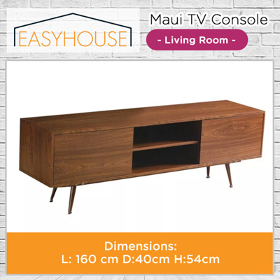 Maui TV Console | Living Room | Solid Wood with High Laminated Finishing