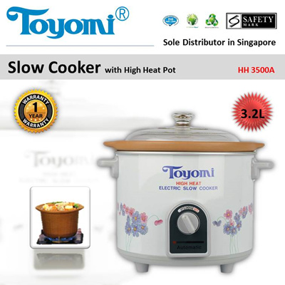 TOYOMI Slow Cooker High Heat 3.2L [Model: HH 3500A] - Official TOYOMI Warranty Set [SG]