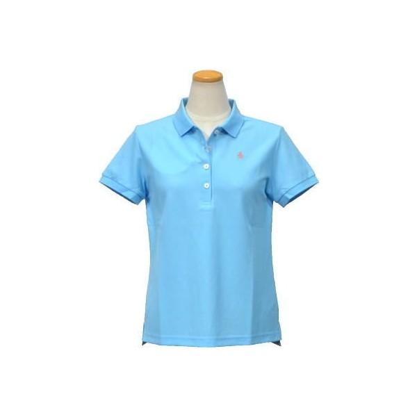 *平井涼子*日本制 企鵝 Munsingwear 春夏經典刺繡 防皺加工 水藍 POLO衫