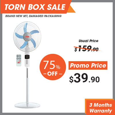 *CLEARANCE* [Dented Box] Europace 18 Inch Horn Blade Stand Fan  W REMOTE CONTROL / 3 WIND MODES