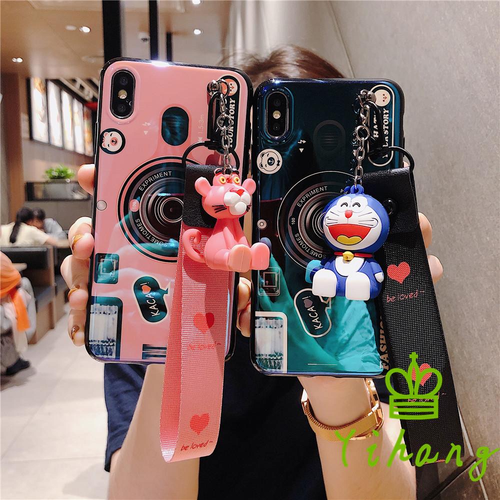 Huawei P30 Mate 20 X Pro Lite Nova 4 3i 3 Y7 Y6 Pro 2019 Honor 8X Max V20 Honor Play 7X 7A 9 8 6C Pro V10 Nova 2 Lite Camera Soft Case With Doll