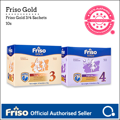 [FRISO] Gold 3/4 Sachet box (10s) | Made in Netherlands for SG | Official Friso