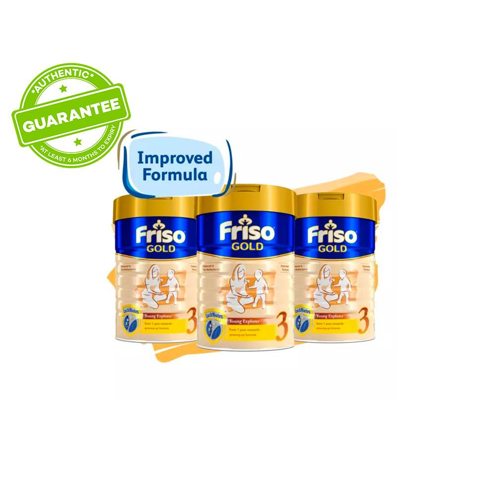 Friso Gold 3 Growing Up Milk 900g x 3 tins