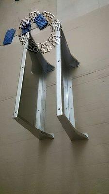 速發~窗戶第四代內折式不鏽鋼遮雨板排油煙機出口防進水專用~(正白鐵304#)~晴雨棚 / 遮雨棚 冷氣 專用 窗型雨遮