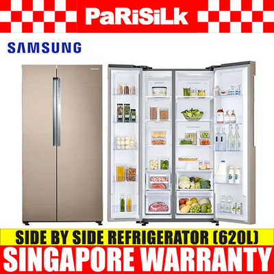 Samsung RS62K61A17P Twin Cooling Plus™ Side By Side Fridge (620L)