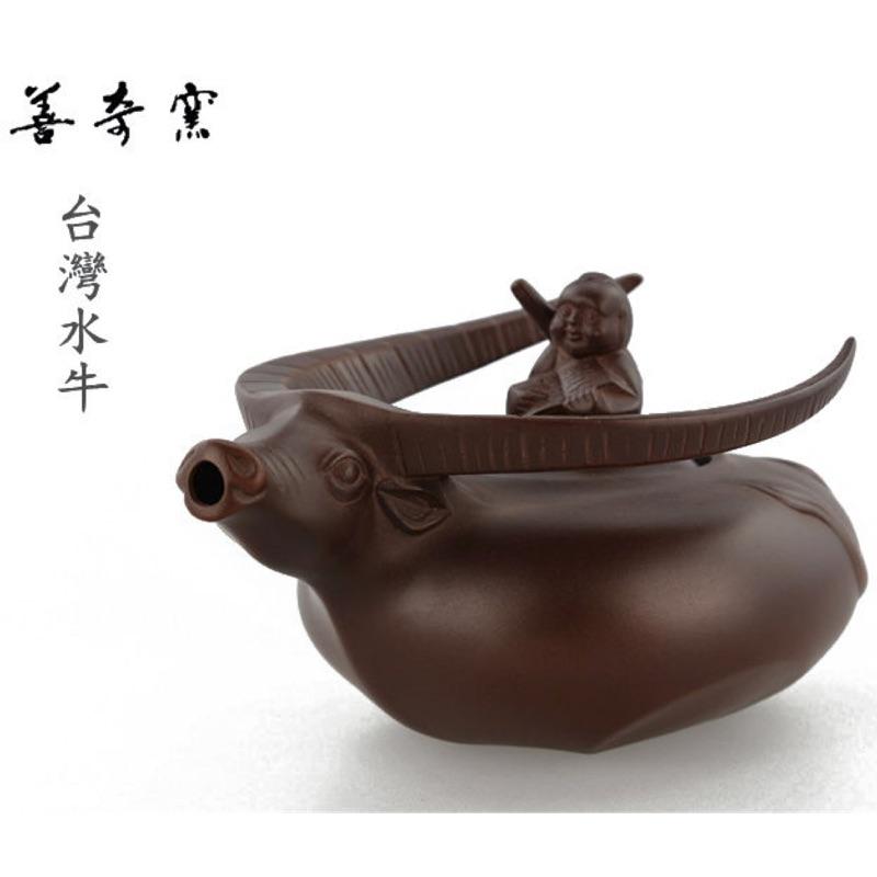 【善奇窯】~鶯歌茶壺~台灣水牛茶壺/ 紫泥/ 250ML