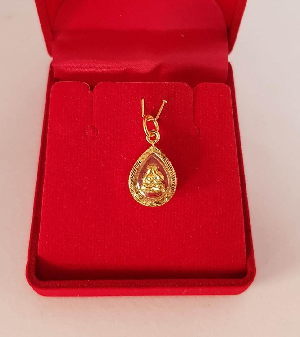 จี้ พระปิดตา (วัดบ้านไร่) จี้พระหุ้มเศษทอง เลี่ยมกรอบทอง องค์จิ๋ว