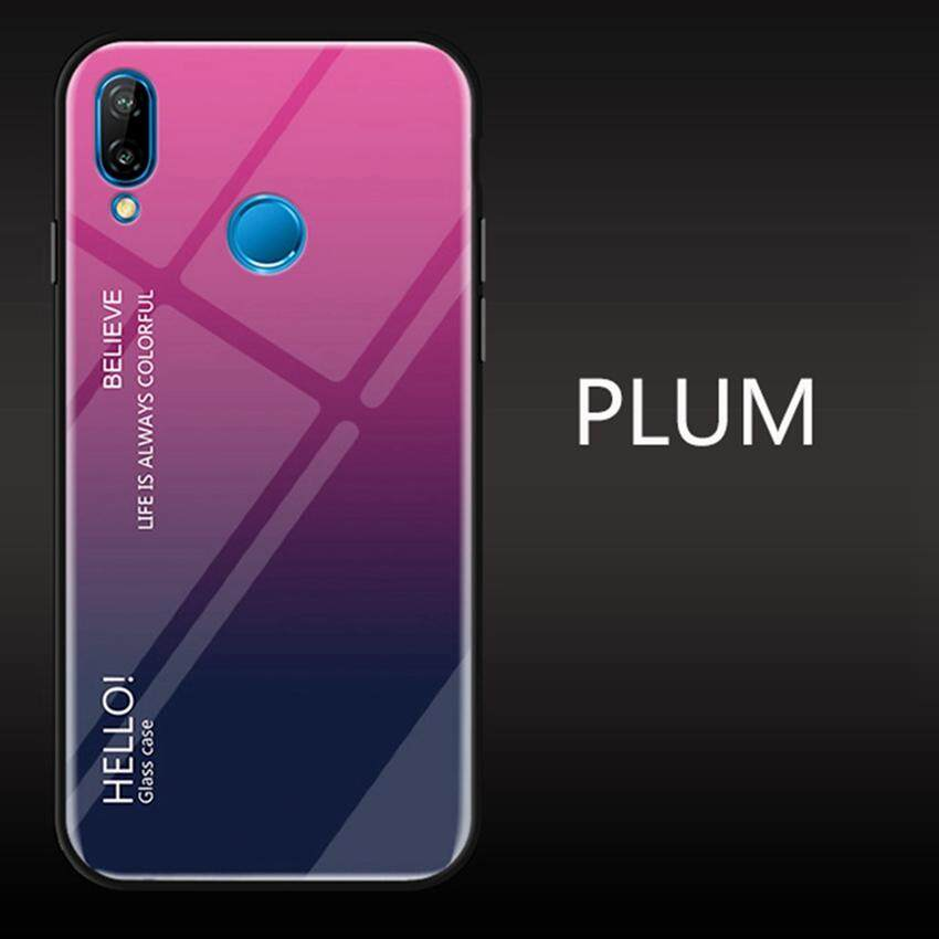UPaitou Tempered Glass Case for Huawei Nova 3i Case TPU Bumper with Gradient Glass Back Phone Cover Case for Huawei Nova 3i