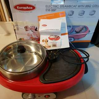 🚚 EuropAce steamboat with bbq grill