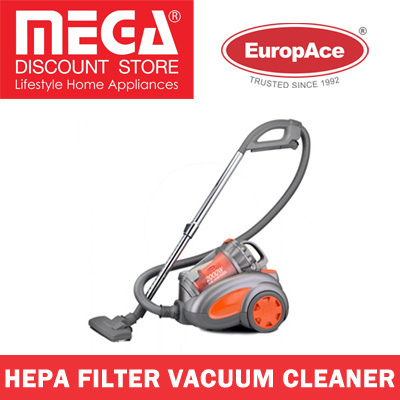 EUROPACE EVC2006P VACUUM CLEANER WITH HEPA FILTER / LOCAL WARRANTY