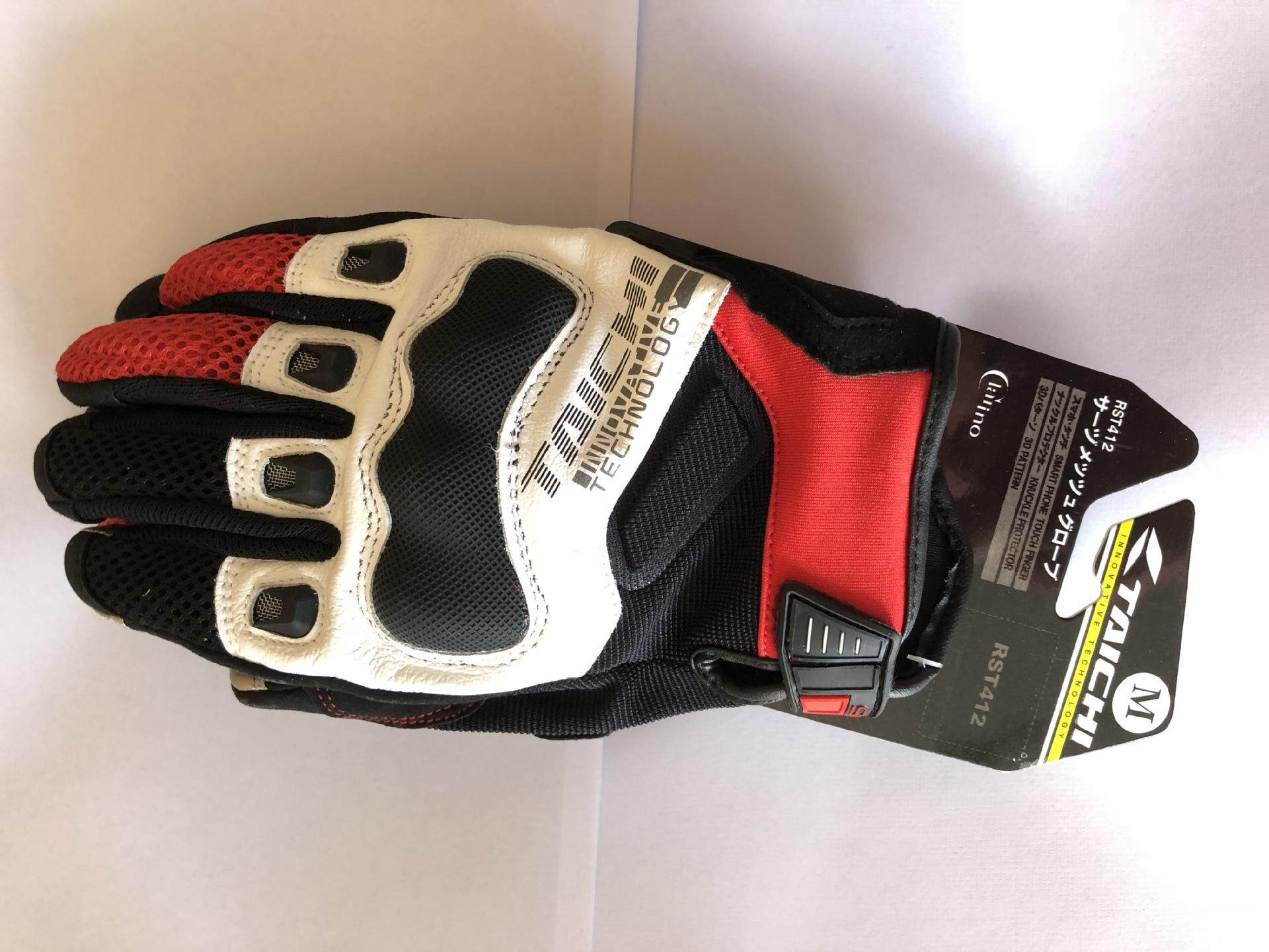RS TAICHI412 Motorcycle Racing Leather Touch Screen Gloves