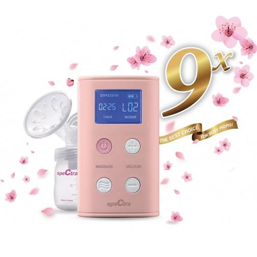 ★升級版★Spectra 貝瑞克 9x攜帶式電動雙邊吸乳器(公司貨) 粉色【佳兒園婦幼館】