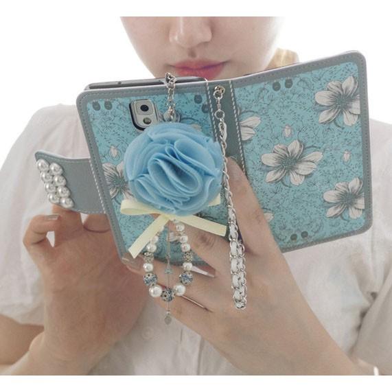 藍百合皮套 送掛繩送吊飾 三星 Galaxy Note4/Note5/Note8/Note9手機套 手機殼