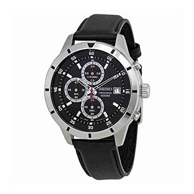 (Seiko Watches) Seiko Chronograph Black Dial Mens Watch SKS571-SKS571P1