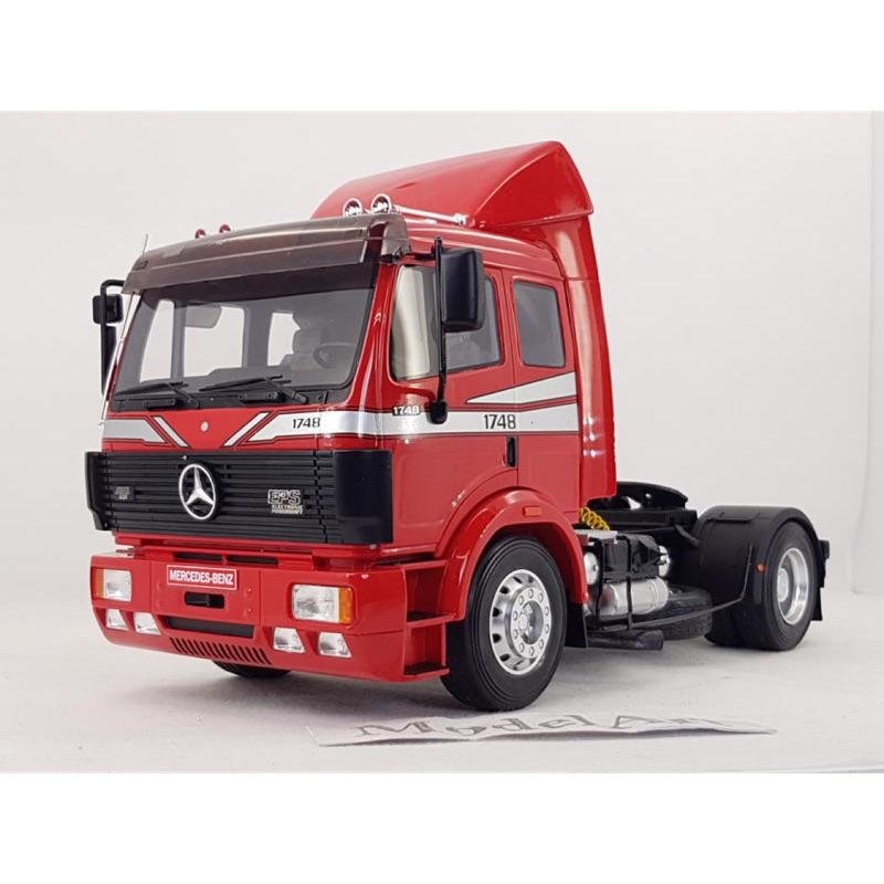 1:18 OTTO Mercedes-Benz SK 1748 1990紅 曳引車/卡車頭 全球限量999台