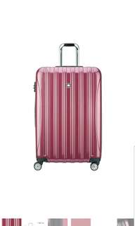 "🚚 Delsey Luggage Helium Aero Expandable Spinner Trolley 29"" 29 inch large suitcase luggage Peony Pink"