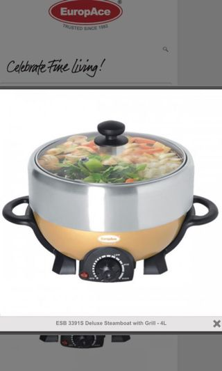 EuropAce 4L Steamboat + Grill (Brand New in box)