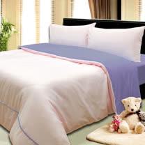 《KOSNEY  情調之美》3M吸濕排汗專利+涼感紗四件式雙人床包被套組台灣製造