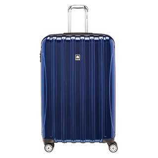 "Delsey 29 Inch 29"" Expandable Helium Aero Luggage  Spinner Trolley, Cobalt Blue Silver Brushed Charcoal Plum"