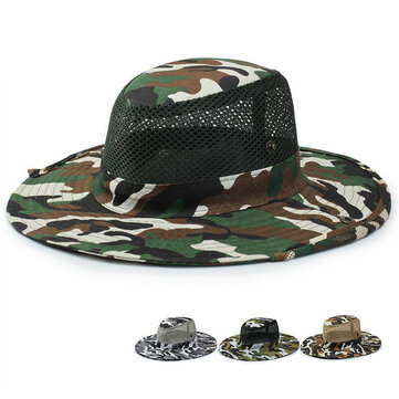 Unisex Camouflage UV protection With String Bucket Hat