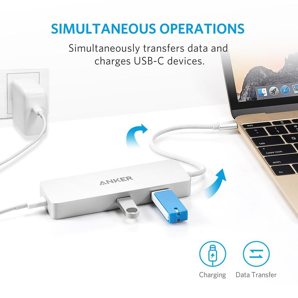 Anker Premium USB-C Hub with Ethernet and Power Delivery