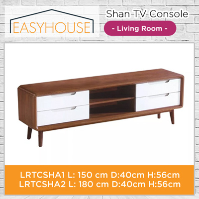 Shan TV Console | Living Room | Solid Wood with High Laminated Finishing