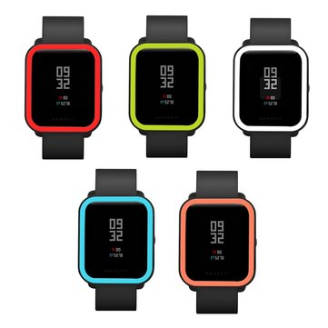 KALOAD Double Colors Silicone Watch Screen Protector Soft Smart Watch Case Cover For Huami Amazfit Bip Smart Watch
