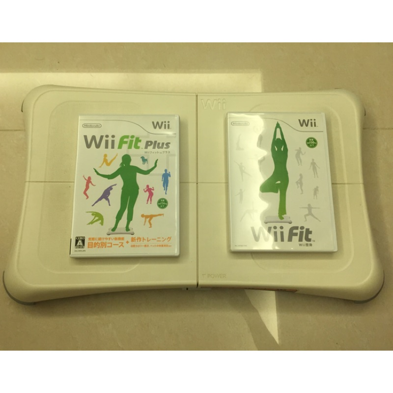 Wii Fit 平衡板 + 遊戲 2片 Wii fit plus 二手