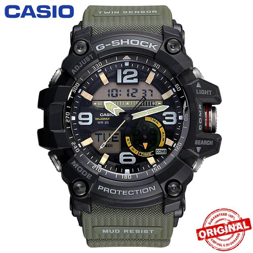 【Ready Stock】Casio G-SHOCK GG-1000 MUDMASTER Green Mens Watch Men Sport
