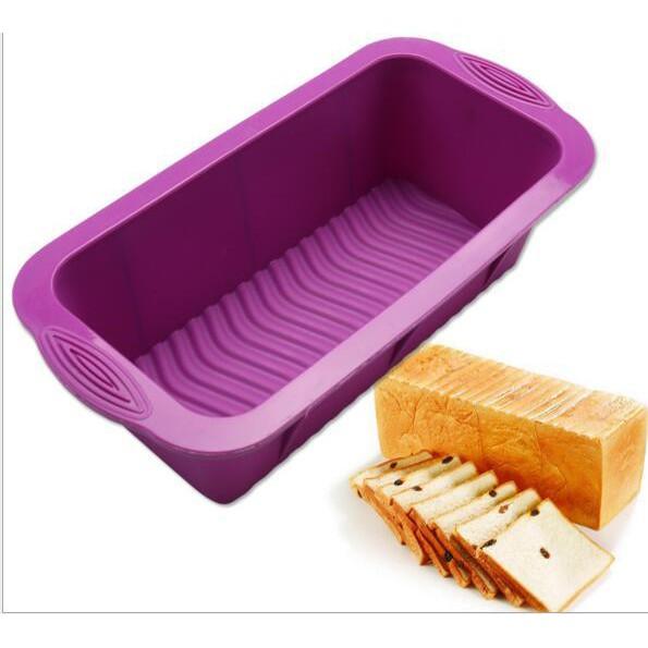 矽膠長方形吐司盒 長條麵包蛋糕模 吐司盒 DIY烘培工具