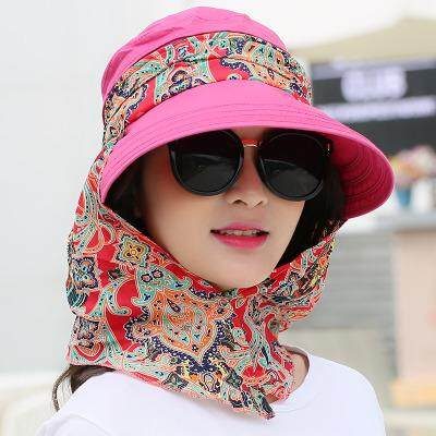 summer sun hat, outdoor large covered face, UV protection, sun hat, sun hat, lady hat can be folded(Navy Blue)