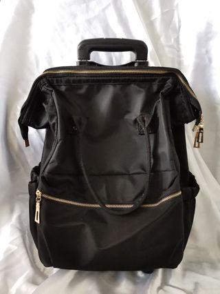 BN Anello Inspired Black Trolley Bag