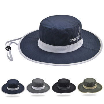 Wide Brim Bucket Hat UV Protective Fisherman Caps