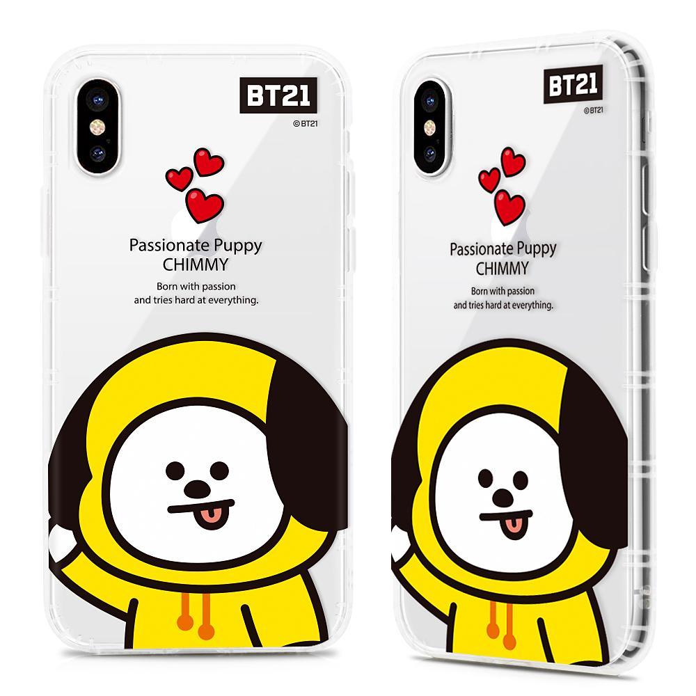 South Korea BT21 Bulletproof Boys iPhone X Phone Case Cartoon Shatter-resistant Soft Cover iPhone 7plus8P Silica Gel