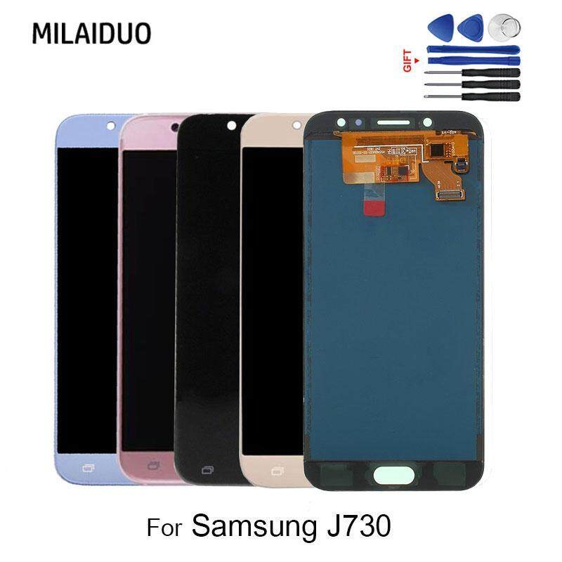 MILAIDUO Adjustable Tft For Samsung Galaxy J7 Pro J730 J730f Lcd Display Touch Screen Assembly Replacement + Tools