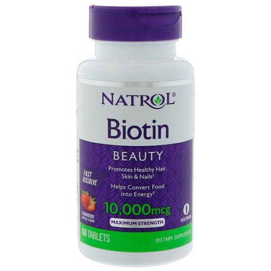 natororubiochin 10,000mcg 60片草莓滋味Biotin Strawberry Flavor Vent Bleu